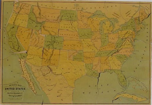 Map jigsaw puzzles countries dissected outline map of the united states gumiabroncs Gallery